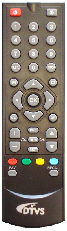 Remote control for DTVS-1, DTVS-1B, DTVS-P1, DTVS-P2