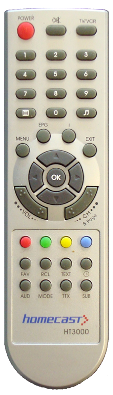 Homecast HT3000 Silver Remote