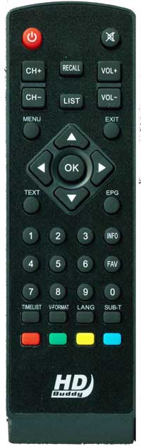 Remote control for HDBuddy Receiver (Large)