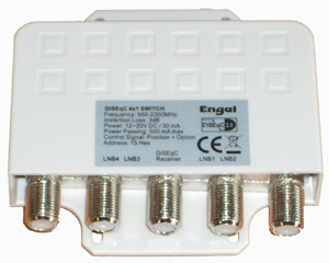 Engel DiSEqC Mast Switch 4 in 1 Out