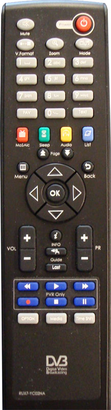 HD6000T/NZ Remote Control